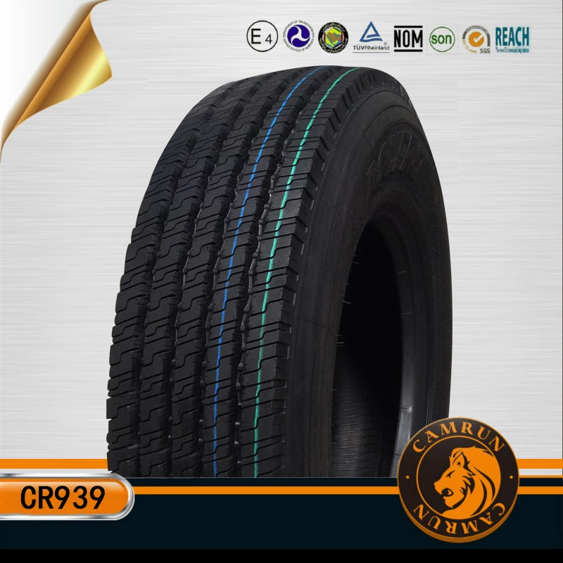12r22.5 Camrun brand tubeless truck tire used for Myanmar Nigeria markets