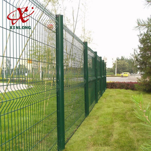 Green Vinyl Coated Curved Garden Fence Panel/Garden fence/Nylofor 3D Pro betafence in artistic designs