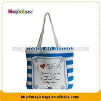 Full color big capacity canvas promotion beach canvas tote bag,shopping bag