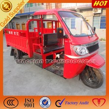 high quality three wheel cargo tricycle from China with semi closed cabin hot sell tricycle in Uzbekistan