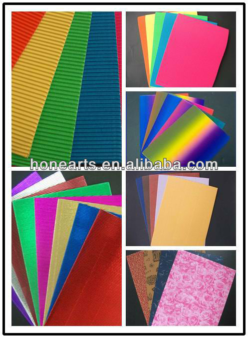 Plain color corrugated paper
