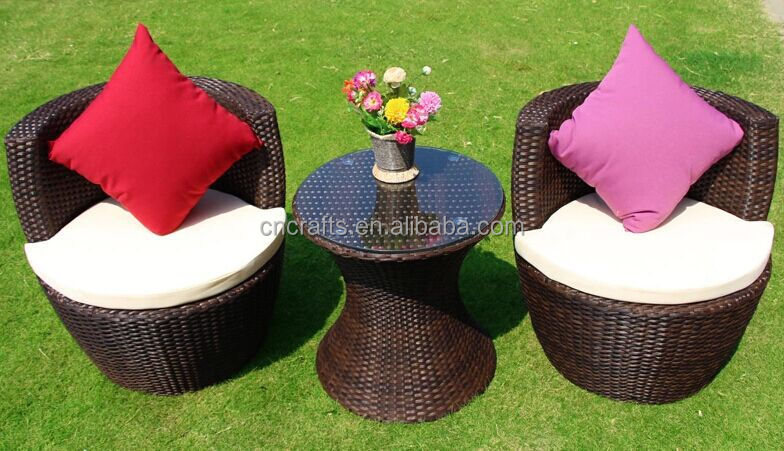 Wicker Rattan Chat Sets All-weather Bistro Sets (LD-HC0034)