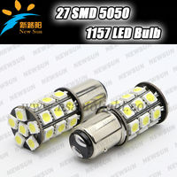 BAYONET 1157 Bay15d (DOUBLE FILAMENT) 27 SMD 5050 LED BULB FOR CAR/MOTORCYCLE/SCOOTER TAIL BRAKE & STOP LIGHT DC12V