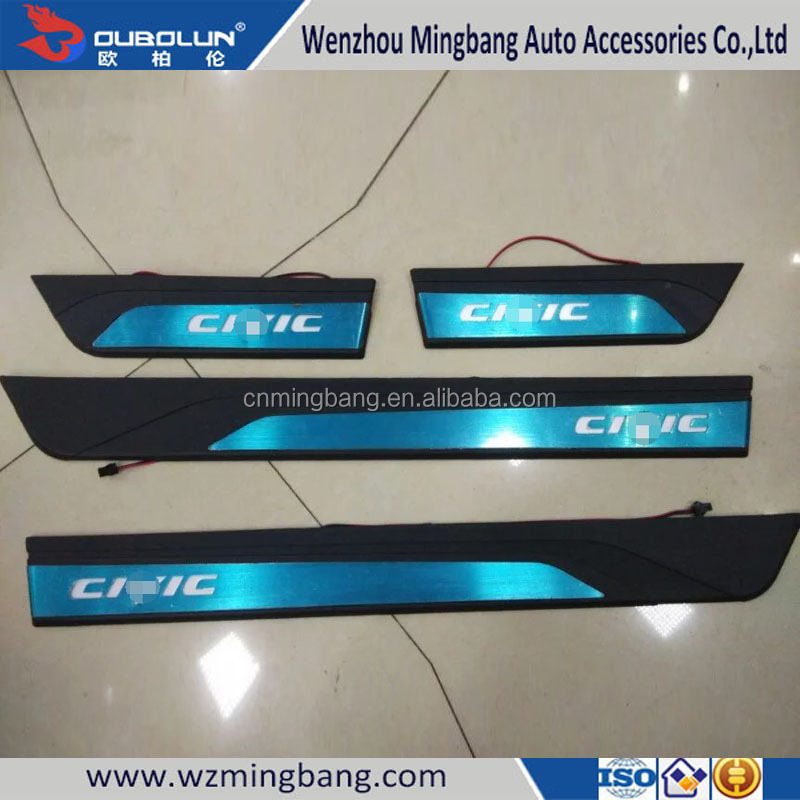 High Quality Car Accessories ABS Door Sills Scuff Plate For Honda Civic 2016