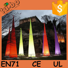 hot sale inflatable led cone / inflatable colume /inflatable pillar with LED light for Christmas ornament
