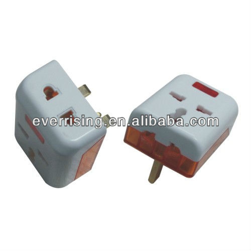 BS standard 13A ABS 3 pin sockets electrical adaptor plug with competitive price