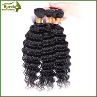 Alibaba beauty hair top quality unprocessed 100% virgin human brazilian hair deep wave 7a grade