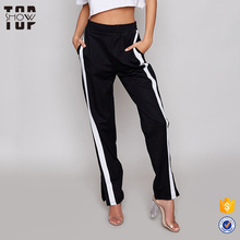 Best selling products 2017 in usa black bulk track pants women with stripes
