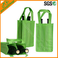 Promotional cheap non-woven reusable divided wine tote bag