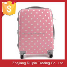 fancy press-resistance dotted travel luggage, 3 piece trolley luggage set, luggage set