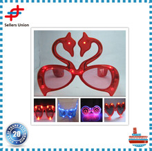 High Quality Swan shaped LED glasses for elegant party decorations