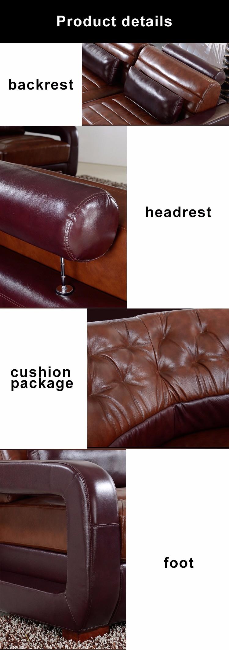 Royal Furniture Living Room Sets Wholesale Classic Design L Or U Shaped Genuine Leather Corner Sofa