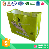 lamination handle pp woven shopper bag