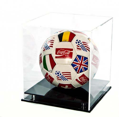 Clear acrylic football display case plexiglass soccer ball basketball showing box