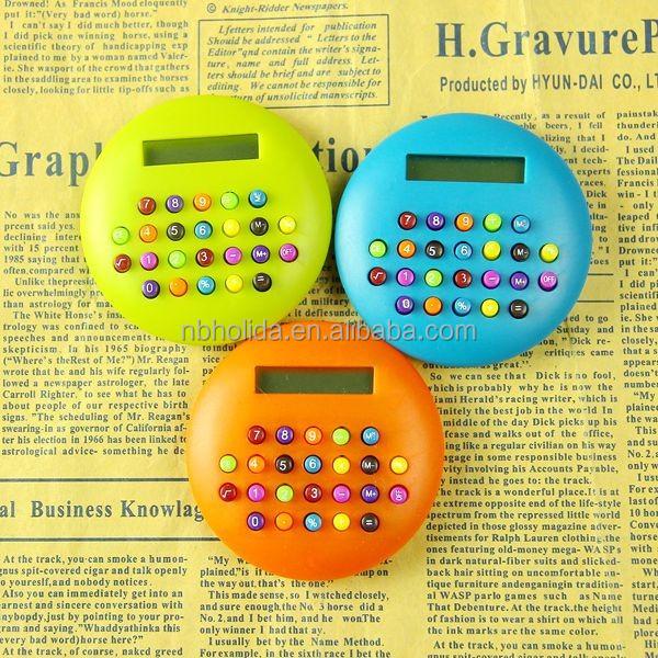 Colorful apple shape portable mini calculator
