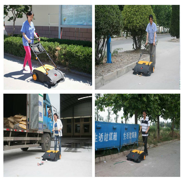 Walk Behind Hand Push Floor Broom Sweeper