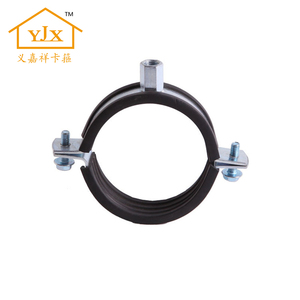Galvanized Steel Hydraulic Hanging Pipe Clamp With Rubber