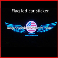 Manufacture Supply Sound Activated Light Control Equalizer EL Car Sticker