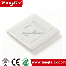 Hot sale 86 type dual port faceplate rj45 wall outlet