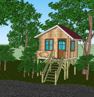 17.5sqm Leisure wooden tree house deer blind for hunting