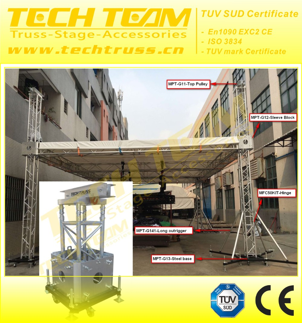 Hot sale Outdoor Concert Stage Truss, Portable aluminium stage truss