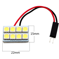 5050 8 LED SMD Car Interior Bulb Dome Door Box Map Light White