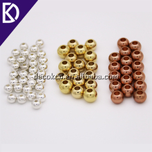 3mm 5mm 7mm 8mm 9mm drilled hole solid gold stainless steel bead for jewelry making