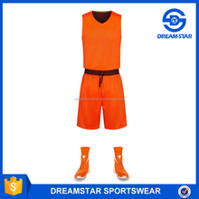 Promotion Online Shopping Best Material Orange Basketball Uniforms,Basketball Wear