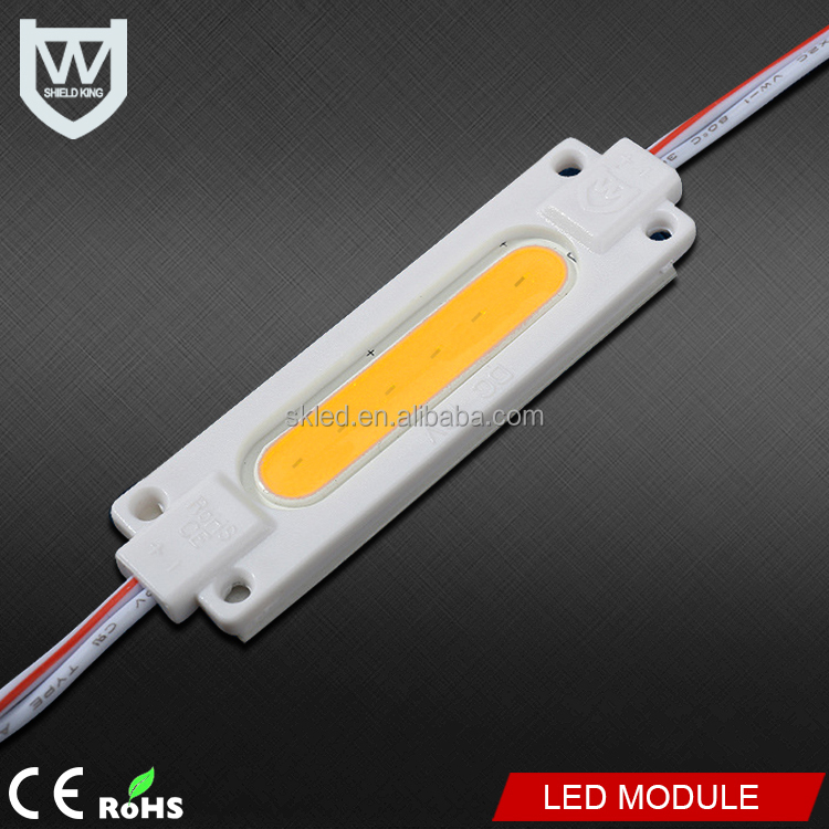 Hot selling led injection module rgb 2watt waterproof ip65 12v cob led module for led advertising counter lighting