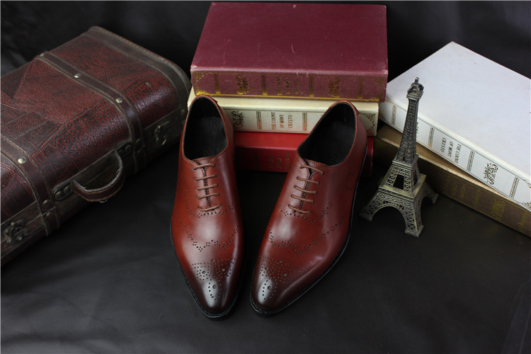 2018 Bespoke Genuine Leather Oxfords Goodyear Men's Formal Shoes