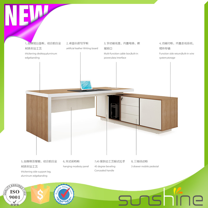 2016 New Boss series BS-Z2290 manufacture best quality executive desk pictures of office furniture table designs