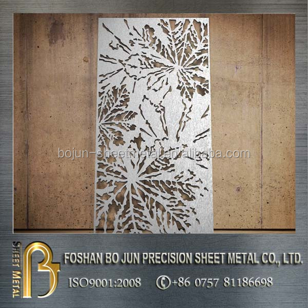 3mm aluminium laser cut metal privacy screen custom screens