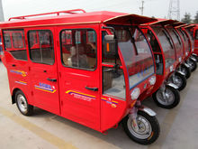 6 person passengers seat electric tricycle with solar battery