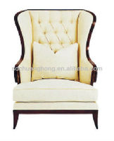 Hotel lobby sofa high wing back lobby chair CH-XXY-014