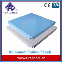 Home Interior Metal Alloy Aluminum Square/Baffle/Grid Decorative Ceiling Access Panel Tiles