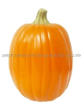"13"" Yellow Carvable PU Wholesale Halloween Decoration Pumpkin"