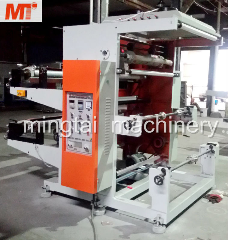 Two color hot flexo printing machine for paper money print