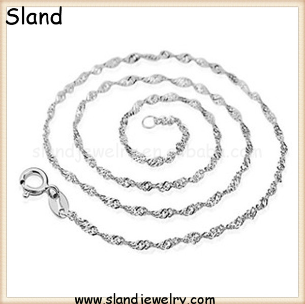 Unisex fashion jewelry Sland 925 sterling silver made in italy, popular chains for necklace
