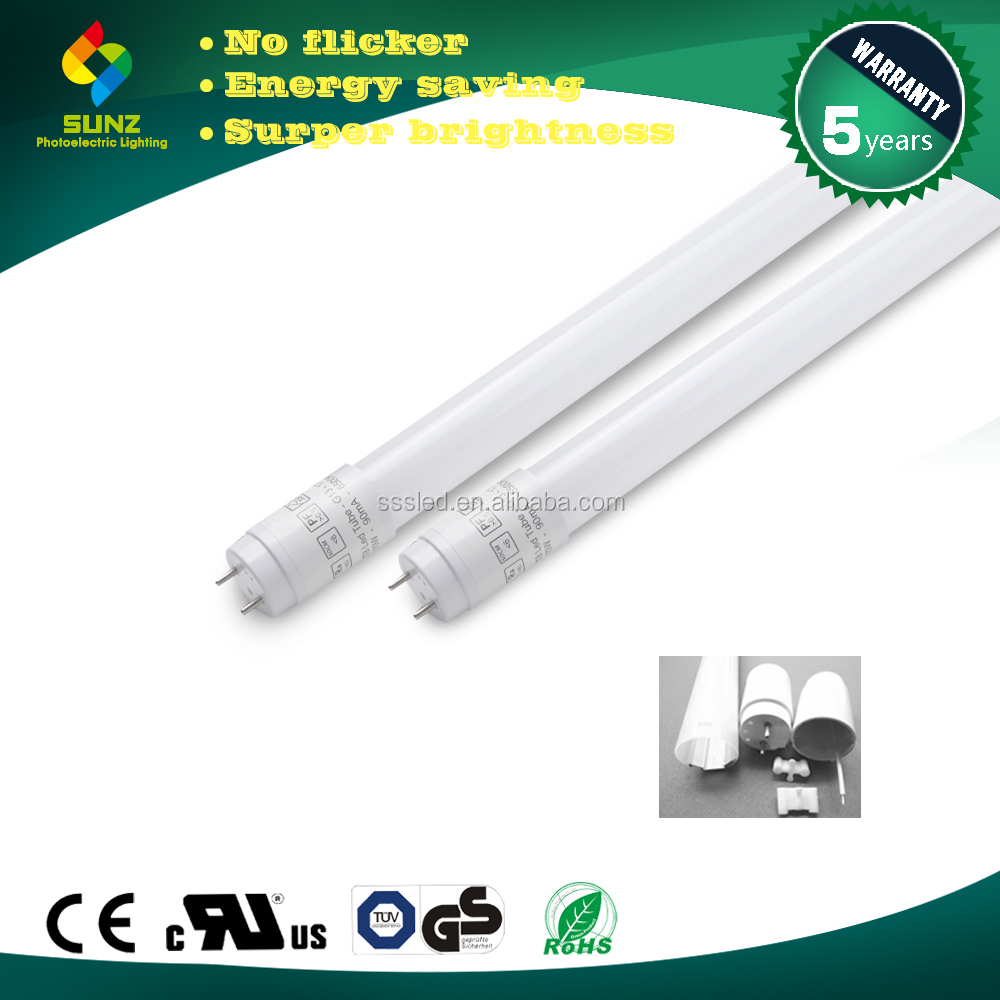 T8 22W 5ft 1500mm competitive price 110lm/w high quality CE RoHS LED tube light t005