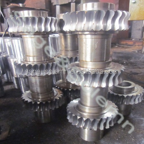 Carbon Steel Forging Gear Shaft With Big Size