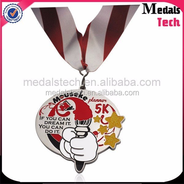 Black cut out cheap sports custom metal medals