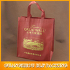 Waterproof of single bottle printed ECO non woven wine bags for packing