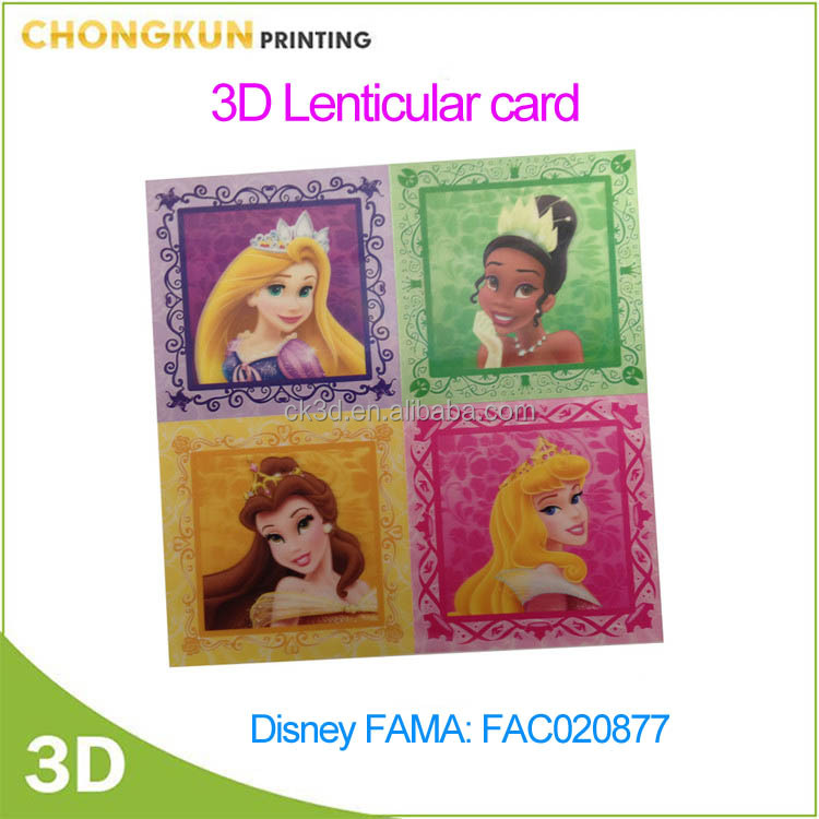 Disney Audit FAMA PP/PET kids promotion 3d lenticular card