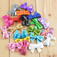 20 colors available 4cm bowknot, bows for clothing, hair accessories