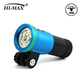 Hi-Max V11 3200Lumen Xhp70 Waterproof Led Flood Ring Scuba Moving Light Dome Underwater Pool Torch Holder Diving Video Light