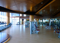 Gym pvc sport floor wood design floor