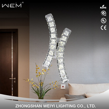 zhongshan OEM&ODM hotel fancy decorative indoor wall mounted led crystal wall light