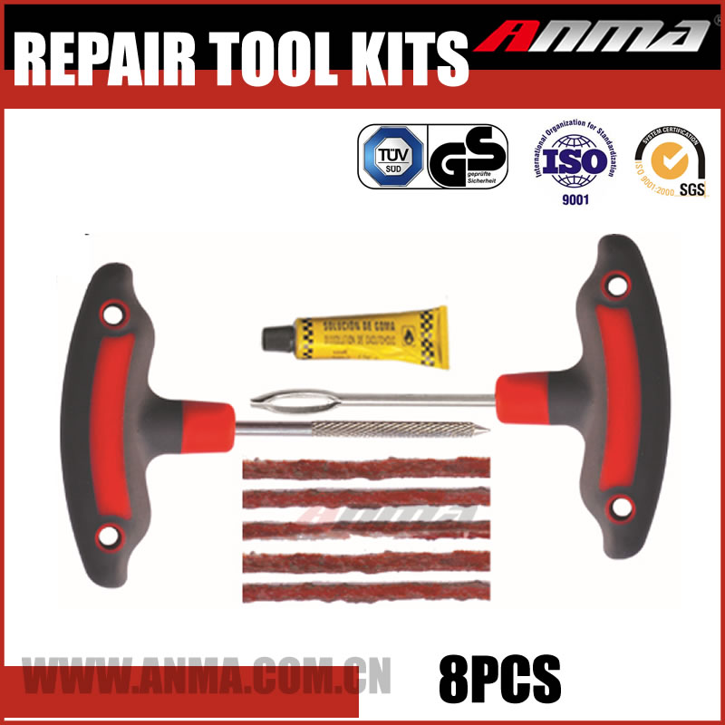 T-Handle flat tire repair Plug Kit