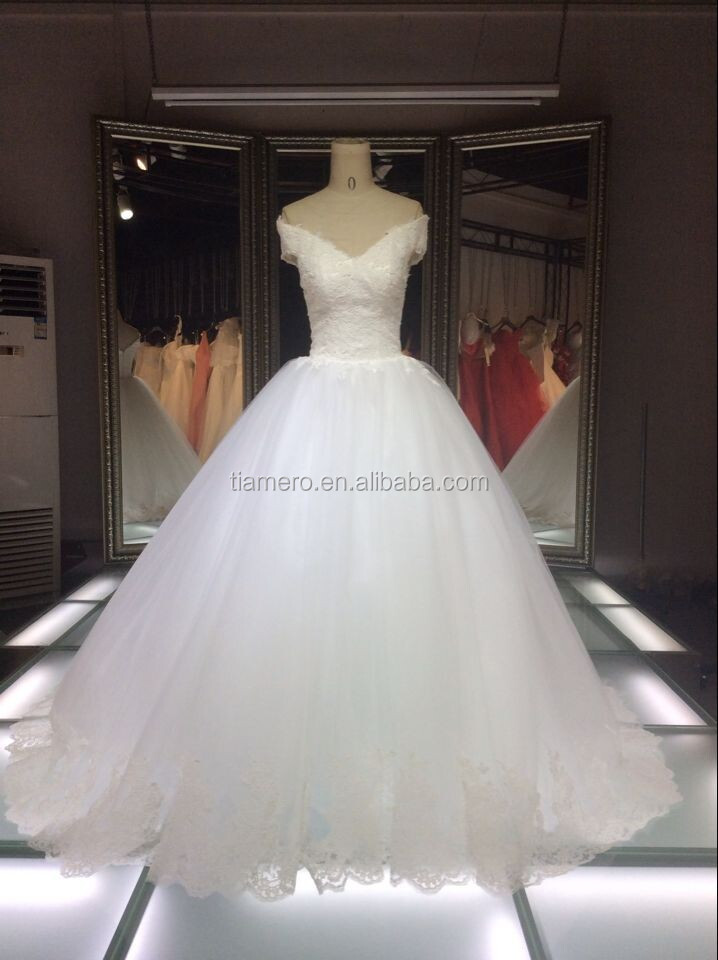 1A055C latest pictures bridal gown zipper up wedding dress dresses 2016
