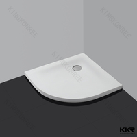 80x80 small size poly marble shower tray